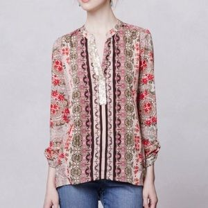 Anthropologie Tiny Devas Popover Sequined Top
